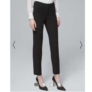WHBM the slim ankle black pants size 6